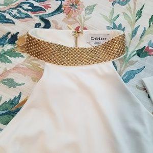 bebe Dresses - Bebe White Long Sleeve Dress